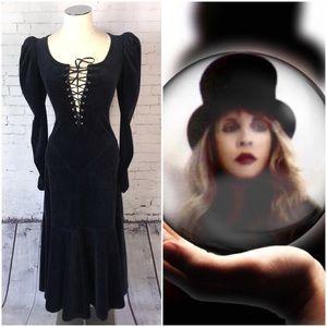 🦄Vintage Betsey Johnson Velvet Dress Size 4P-6P